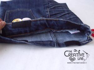 tutorial custodia porta pc laptop fai da te riciclare jeans diy 24