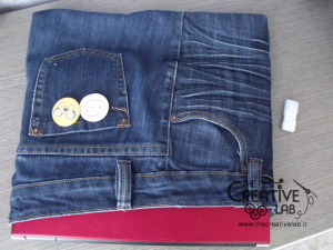tutorial custodia porta pc laptop fai da te riciclare jeans diy 30