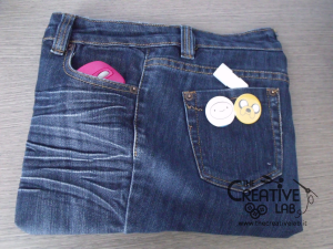 tutorial custodia porta pc laptop fai da te riciclare jeans diy 32