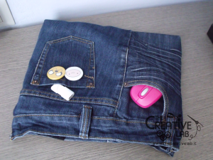 tutorial custodia porta pc laptop fai da te riciclare jeans diy 36