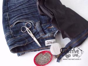 tutorial riciclare jeans fare borsello tracolla fai da te diy 02