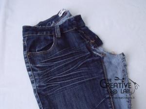 tutorial riciclare jeans fare borsello tracolla fai da te diy 07