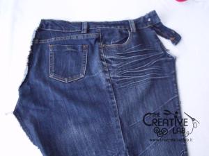 tutorial riciclare jeans fare borsello tracolla fai da te diy 08