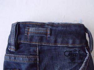 tutorial riciclare jeans fare borsello tracolla fai da te diy 26