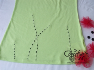 tutorial personalizzare decorare t-shirt maglietta papaveri tulle 09