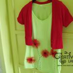 Tutorial: personalizzare una maglietta con i papaveri in tulle