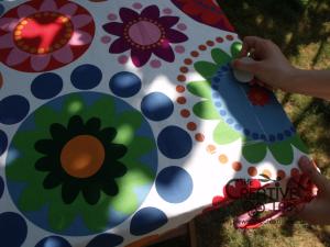 tutorial come fare tovaglia giardino anti-vento fai da te 10