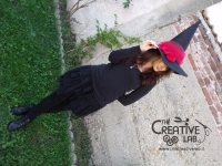 tutorial come fare cappello strega halloween costume fai da te 05