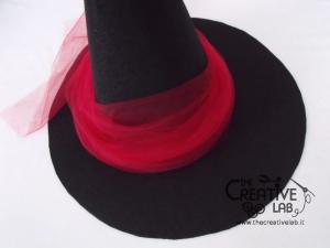 tutorial cappello strega halloween costume fai da te 28
