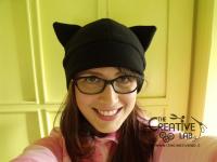 tutorial come fare cappello orecchie gatto fai da te 19