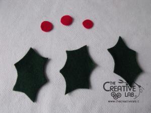 tutorial come fare portatovagliolo segnaposto natalizio pannolenci feltro fai da te 11