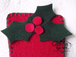 tutorial come fare portatovagliolo segnaposto natalizio pannolenci feltro fai da te 12