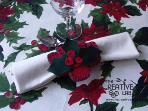 tutorial come fare portatovagliolo segnaposto natalizio pannolenci feltro fai da te 15