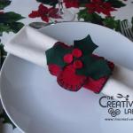 Tutorial: portatovaglioli natalizio in feltro e pannolenci