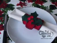 tutorial come fare portatovagliolo segnaposto natalizio pannolenci feltro fai da te 16