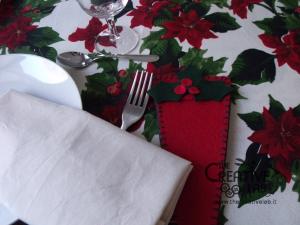 tutorial come fare portatovagliolo segnaposto natalizio pannolenci feltro fai da te 17