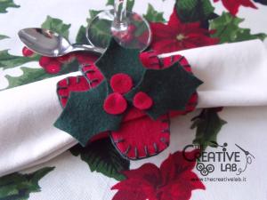 tutorial come fare portatovagliolo segnaposto natalizio pannolenci feltro fai da te 18