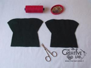 tutorial come fare pigotta vestiti gonna maglia bambola pezza stoffa 06