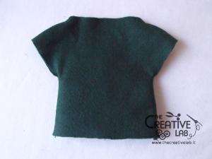 tutorial come fare pigotta vestiti gonna maglia bambola pezza stoffa 08