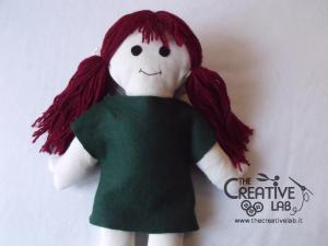 tutorial come fare pigotta vestiti gonna maglia bambola pezza stoffa 09