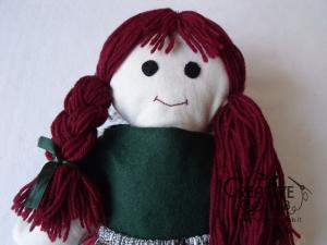 tutorial come fare pigotta vestiti gonna maglia bambola pezza stoffa 17