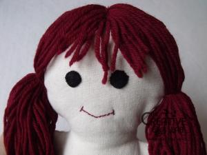 tutorial come fare pigotta viso capelli bambola pezza stoffa 03