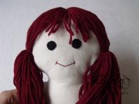 tutorial come fare pigotta viso capelli bambola pezza stoffa 04