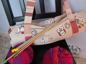 tutorial come fare borsa portalavoro gomitoli lana ferri 04