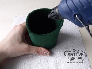 tutorial mini cilindro leprecauno gnomo feltro fai da te 11