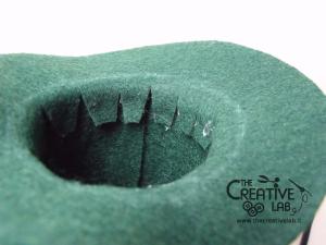 tutorial mini cilindro leprecauno gnomo feltro fai da te 14