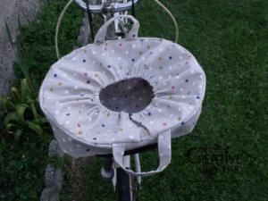 tutorial copri cestino bici bicicletta fai da te 16