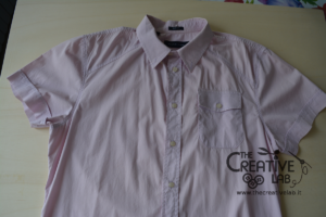 come trasformare vecchia camicia in top refashion riciclo 02