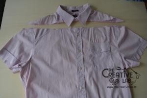 come trasformare vecchia camicia in top refashion riciclo 03
