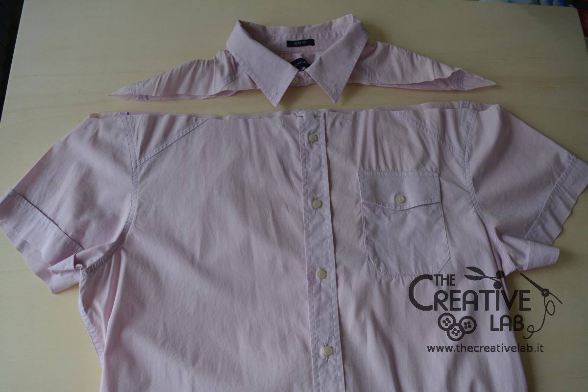 on sale c0f87 264f8 Come trasformare una vecchia camicia in un top con le spalle ...