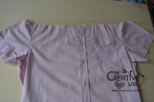 come trasformare vecchia camicia in top refashion riciclo 04