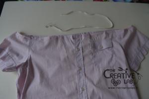 come trasformare vecchia camicia in top refashion riciclo 05