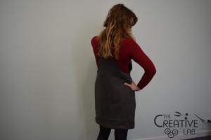 tutorial abito salopette scamiciato fai da te diy 26