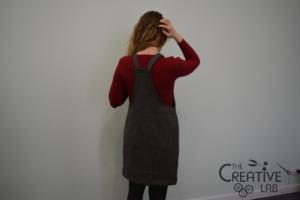 tutorial abito salopette scamiciato fai da te diy 27