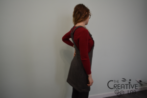 tutorial abito salopette scamiciato fai da te diy 28